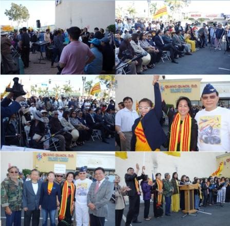 Sau đây là những hình ảnh buổi biểu tình ủng hộ quốc nội vào ngày 14 tháng 5, 2016 tại tượng đài Đức Thánh Trần, ở Little Saigon, Quận Cam, Mỹ Quốc. Xin chia sẻ để khích lệ và hỗ trợ tinh thần lẫn nhau.
